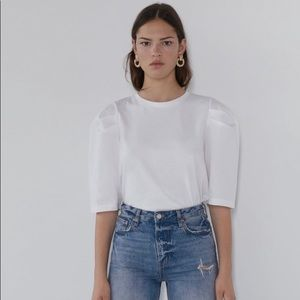 ZARA Puff Balloon Sleeve Shirt